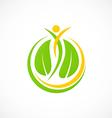 spa leaf people nature logo vector image