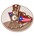 steam train locomotive vector image vector image