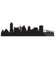 memphis tennessee skyline detailed silhouette vector image vector image