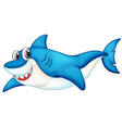 Comical shark vector image