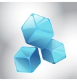 Blue cubes vector image vector image