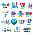 big set of logos family vector image