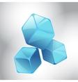 Blue cubes vector image