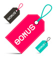Bonus Labels Set Isolated on White Background vector image