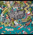 cartoon cute doodles medical frame vector image