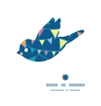 colorful doodle bunting flags bird silhouette vector image