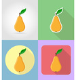 fruits flat icons 09 vector image