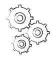 gears symbol concept of motion and mechanics vector image