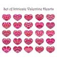 Hearts Set Flower Design vector image