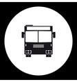 simple front view school bus public transpor icon vector image