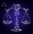 Zodiac sign of libra made of stars vector image