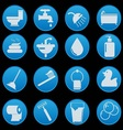 bathroom and toilet icon set gradient style vector image vector image