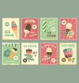 ice cream price cards for fresh desserts vector image