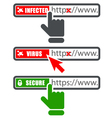 Browser address bar with https protocol vector image