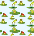 Seamless design of the frogs at the pond vector image vector image