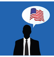 american flag talk vector image