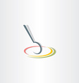 spoon and plate stylized icon vector image