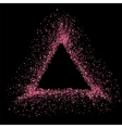 Pink Triangle Frame vector image vector image