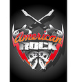 American rock tour with skulls under a spot light vector image