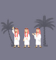 arabian men character vector image
