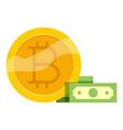 bitcoin trade icon cartoon style vector image