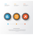 building icons set collection of service glass vector image