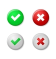 Check marks Realistic buttons style with gloss vector image