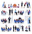 coaching mentoring discipleship flat icons set vector image