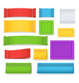 color label fabric blank collection vector image