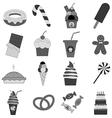 Food dessert icons set vector image