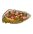 Greek vegetable salad with tomatoes feta cheese vector image