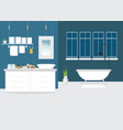 modern bathroom interior design with furniture vector image