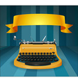 Retro typewriter with banner vector image