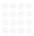 Set of vintage hand drawn sunbursts EPS 10 vector image