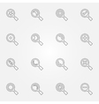 thin line search icons set vector image