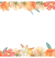 Watercolor greeting card with lily invitation vector image