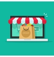 Online order from ecommerce store on-line vector image vector image