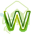 Green letter W vector image vector image