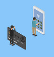 hacking smartphone user database vector image