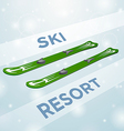 Ski resort skiing in motion vector image