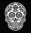 Mexican sugar skull - Polish folk art style vector image