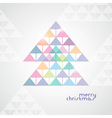 stylized geometrical Christmas tree from color vector image
