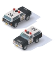isometric police SUV vector image vector image