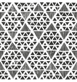 Hand drawn monochrome pattern Primitive geometric vector image vector image