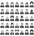 People avatars and user pics in different style vector image vector image