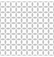black modern wavy shared circles pattern on white vector image