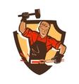blacksmith smithy logo or icon vector image