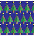 Christmas tree seamless geometric pattern vector image