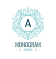 elegant line art circle logo and monogram design vector image