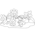 Elf with cute snail vector image